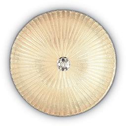 Plafon Shell PL3 140179 Ideal Lux szklana oprawa w kolorze bursztynowym