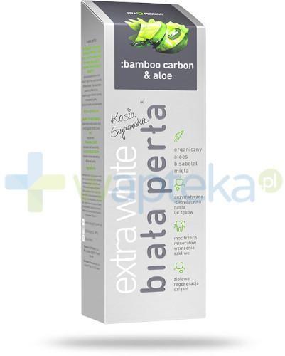 Biała Perła Extra White pasta do zębów z węglem z bambusa i aloesem 75 ml