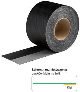Folia zewnętrzna EPDM z paskiem butylu 0,75x150 mm