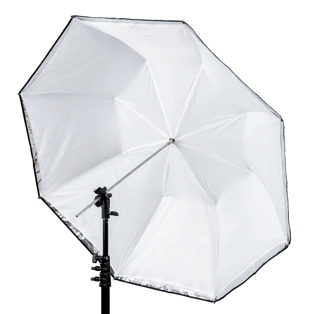 Lastolite LL LU3223F - parasolka fotograficzna Dual 72cm srebrno biała