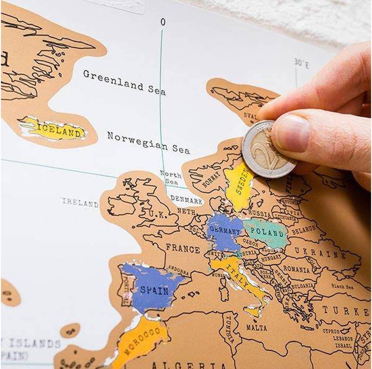 Mapa świata zdrapka - wersja angielska