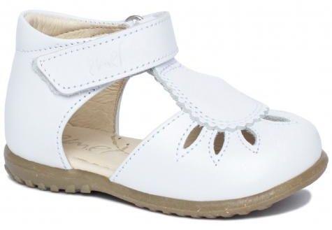 EMEL E2436-12 Roczki sandałki sandały profilaktyczne dziewczęce - białe