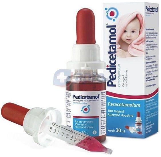 Pedicetamol roztwór doustny 0,1g/1ml 30 ml