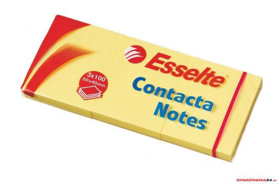 Bloczki samoprzylepne ESSELTE 40x50mm żółte 400k 83012