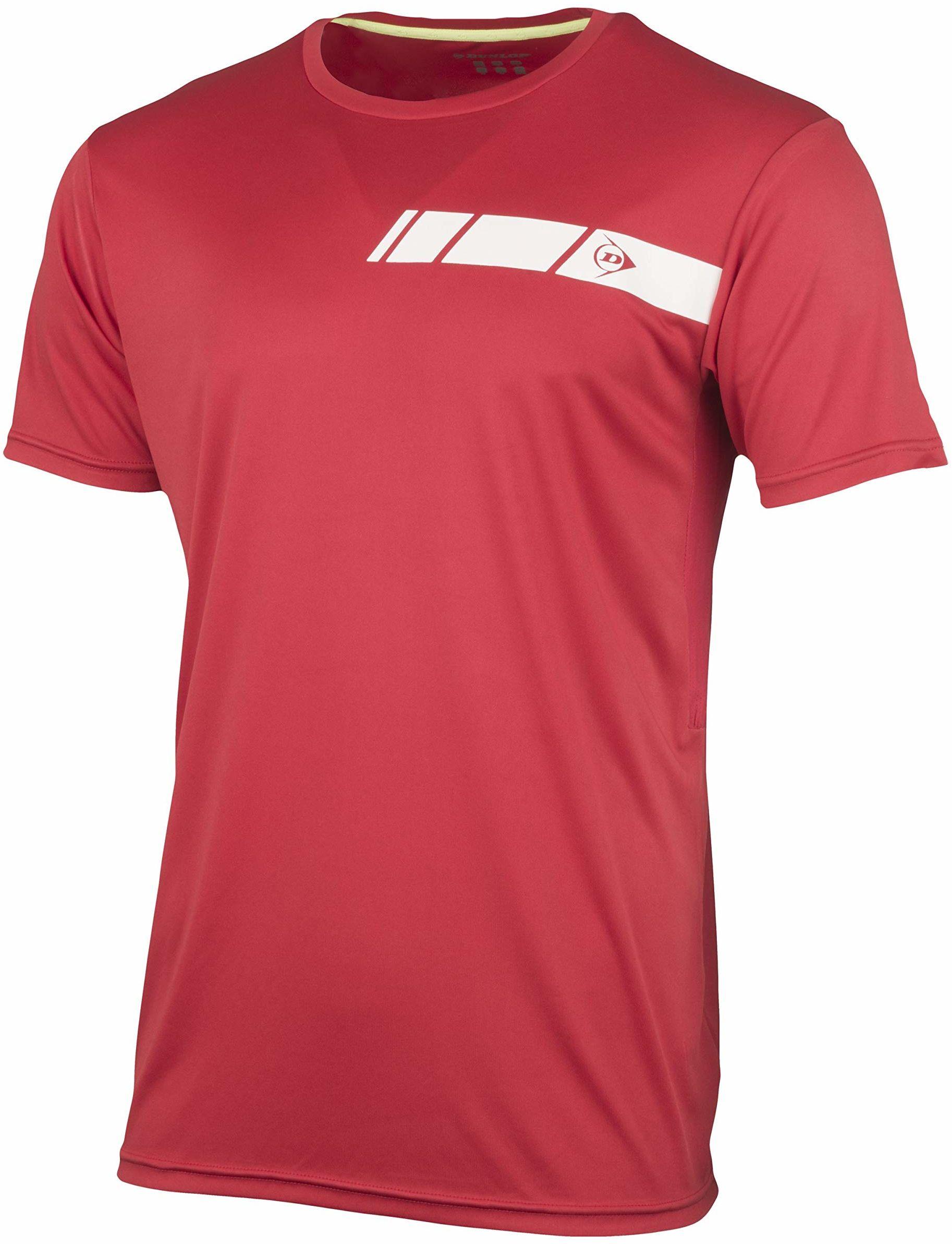 Dunlop Club Line Men Crew Tee, czerwony, XL