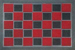 ID mat t dywan z wypustkami, materiał syntetyczny, czerwony, 40 x 60 x 0,9 cm