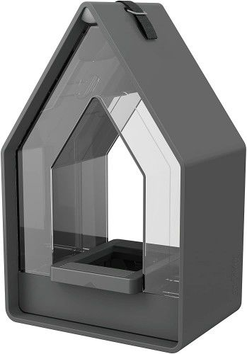 Karmnik domek dla ptaków, do wykorzystania przez cały rok, w stylu wiejskim, Granit
