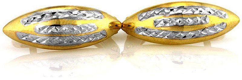 Złote kolczyki 333 migdały z białym złotem 1.60 g