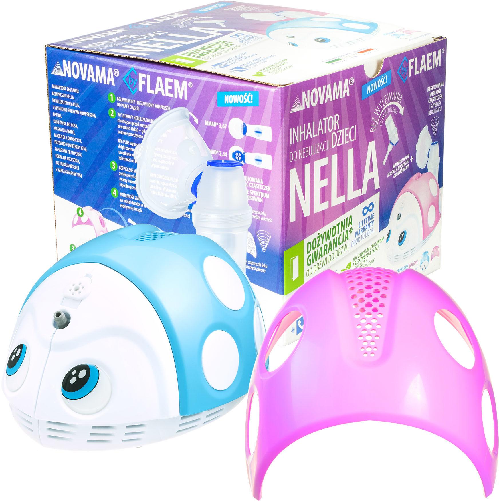 NOVAMA Nella by Flaem Inhalator do nebulizacji dzieci z dożywotnią gwarancją