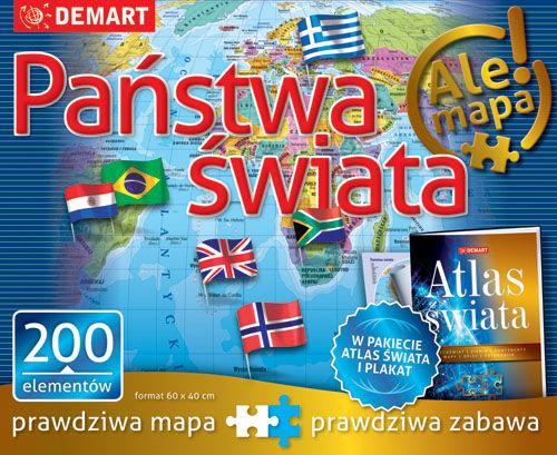 PUZZLE 200 PAŃSTWA ŚWIATA + ATLAS