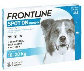 Frontline Spot-On dla Psów Średnich Ras 10 - 20 kg M 3 Pipety