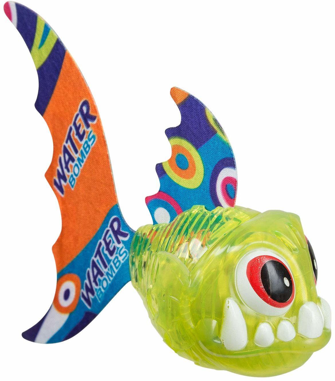 Idena 40026  ryba do nurkowania LED z funkcją świecenia, zielona, kolorowa zabawa podczas kąpieli dla małych i dużych miłośników wody