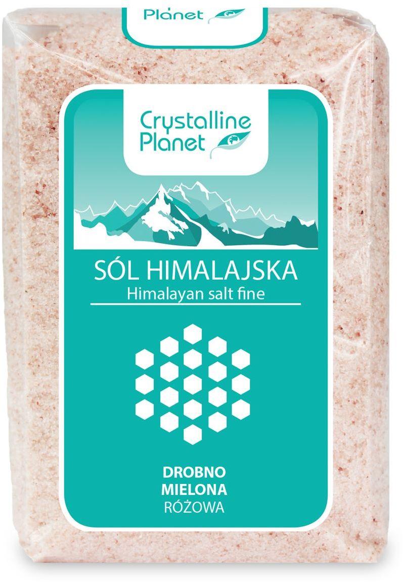Sól himalajska różowa drobno mielona 600 g - crystalline planet