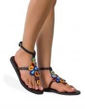 Sandały Boho damskie skórzane