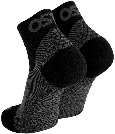 Skarpetki kompresyjne - opaska uciskowa na stopę z naprzemiennymi strefami kompresji - stabilizacja, redukcja bólu i łagodzenie objawów ostrogi piętow