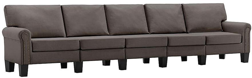 5-osobowa sofa dekoracyjna taupe - Alaia 5X