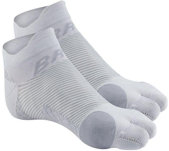 Skarpetki kompresyjne z separacją palucha - bezszwowa opaska uciskowa na stopę z naprzemiennymi strefami kompresji - profilaktyka i leczenie haluksa (