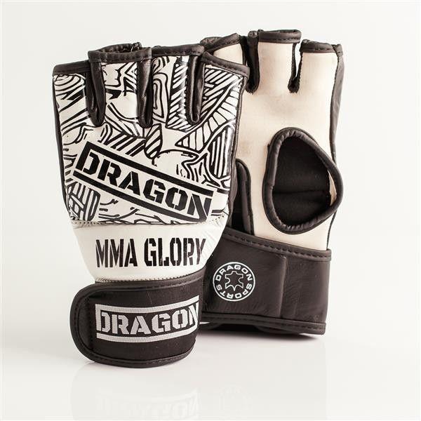 Dragon Sports rękawice MMA Glory białe