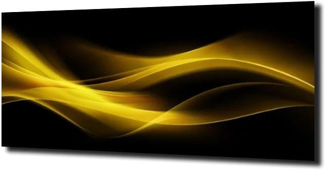 obraz na szkle Abstrakcja żółty 40