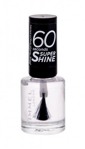 Rimmel London 60 Seconds Super Shine lakier do paznokci 8 ml dla kobiet 740 Clear