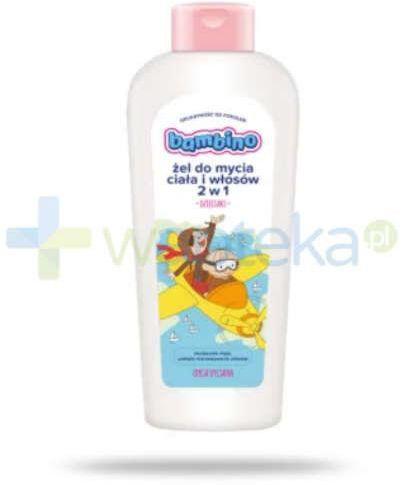 Bambino Dzieciaki żel do mycia ciała i włosów 2 w 1 Bolek i Lolek samolot 400 ml