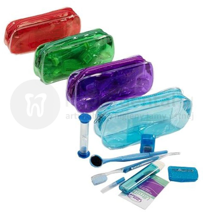 ZESTAW ortodontyczny w etui PLAK SMAKER szczoteczki + akcesoria ortodontyczne - RÓŻNE KOLORY