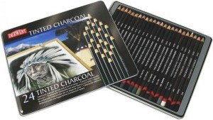 Barwiony Węgiel W Kredce Derwent Tinted Charcoal 24 szt.