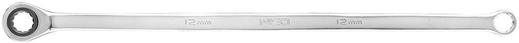 Klucz oczkowy dwustronny z grzechotką, długi 10 mm
