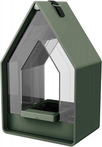 Karmnik domek dla ptaków, do wykorzystania przez cały rok, w stylu wiejskim, Emsa, Zielony
