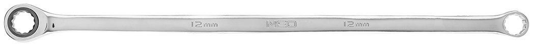 Klucz oczkowy dwustronny z grzechotką, długi 12 mm