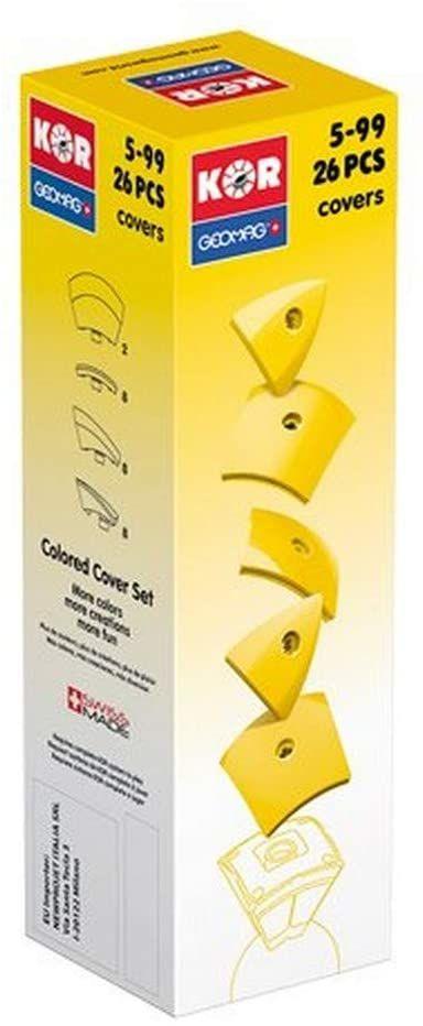 """Geomag 575 zestaw uzupełniający KOR 2.0 Pantone 108"""" zabawka konstrukcyjna, 26-częściowy, jasny żółty"""