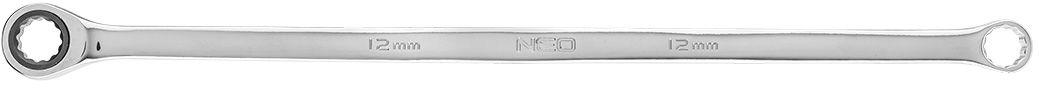 Klucz oczkowy dwustronny z grzechotką, długi 13 mm