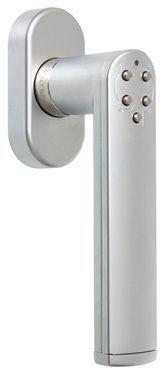 Klamka kodowa okienna srebrna ASSA ABLOY trzpień 7mm