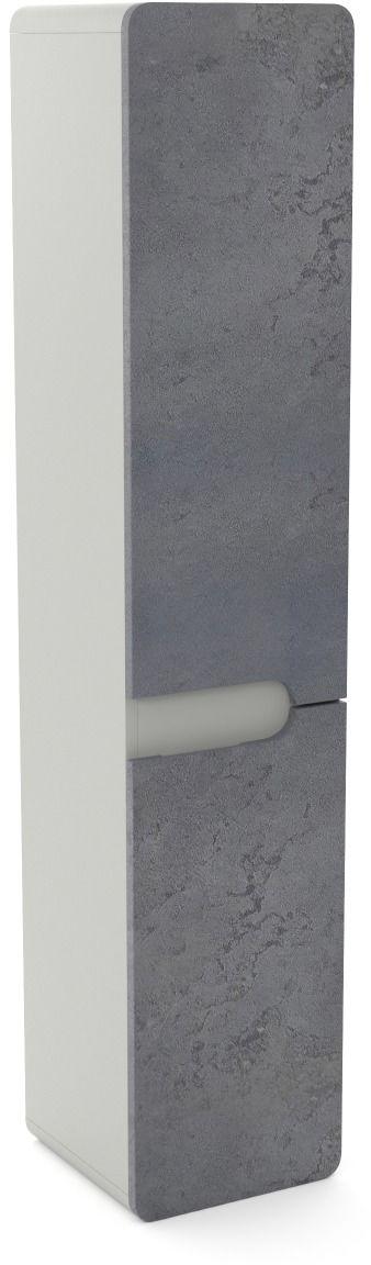 Szafka łazienkowa LOFT 35 wysoka beton/szary mat słupek z cichym domykiem  KUP TERAZ - OTRZYMAJ RABAT