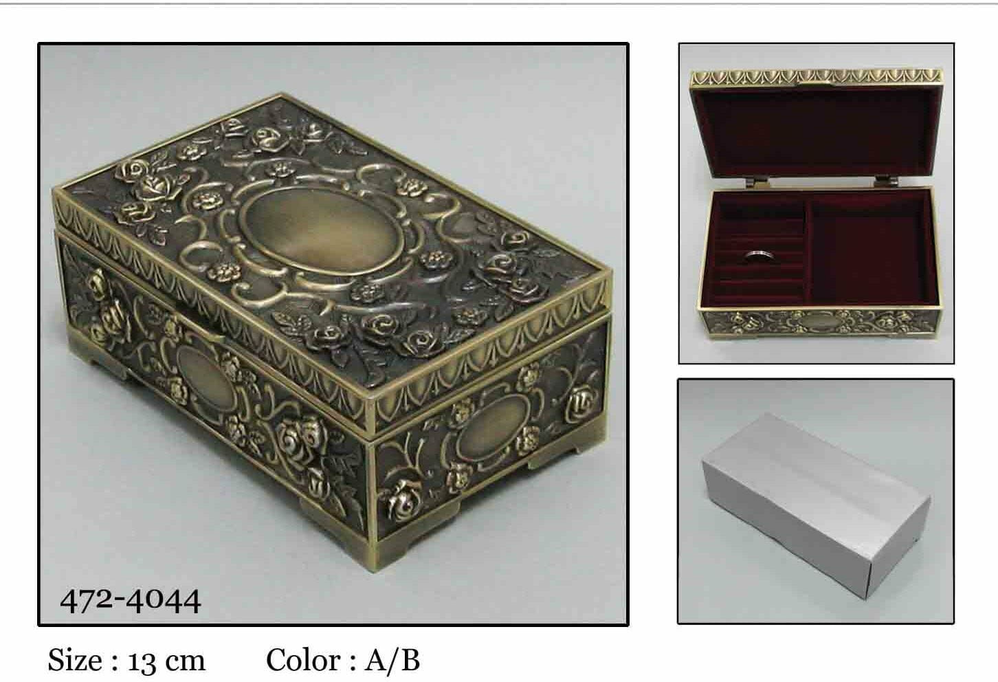 Kasetka, stare złoto 13,5x7,5 cm