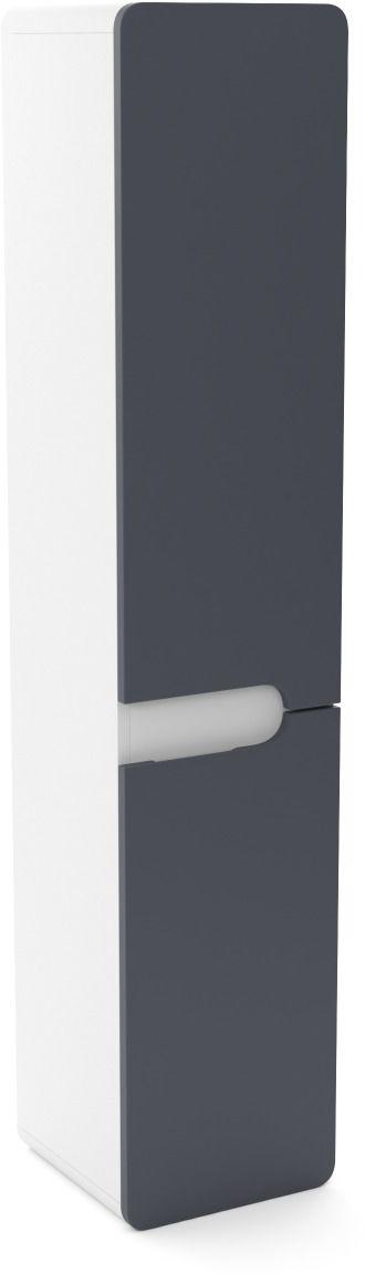 Szafka łazienkowa LOFT 35 wysoka z koszem grafit mat/biały mat  Kupuj w Sprawdzonych sklepach