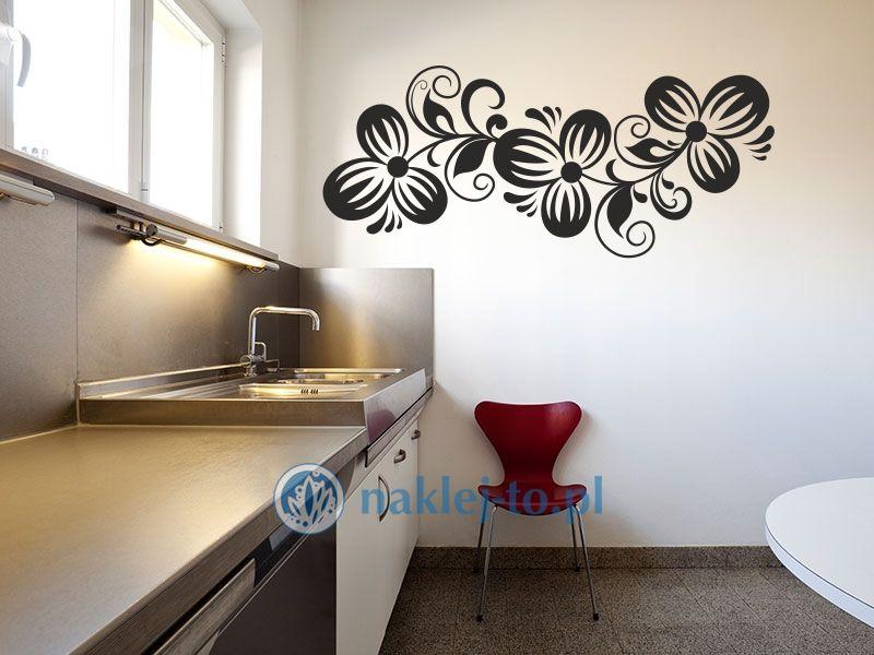 Kwiatowa gałązka 13 naklejka na ścianę Naklejka na ścianę