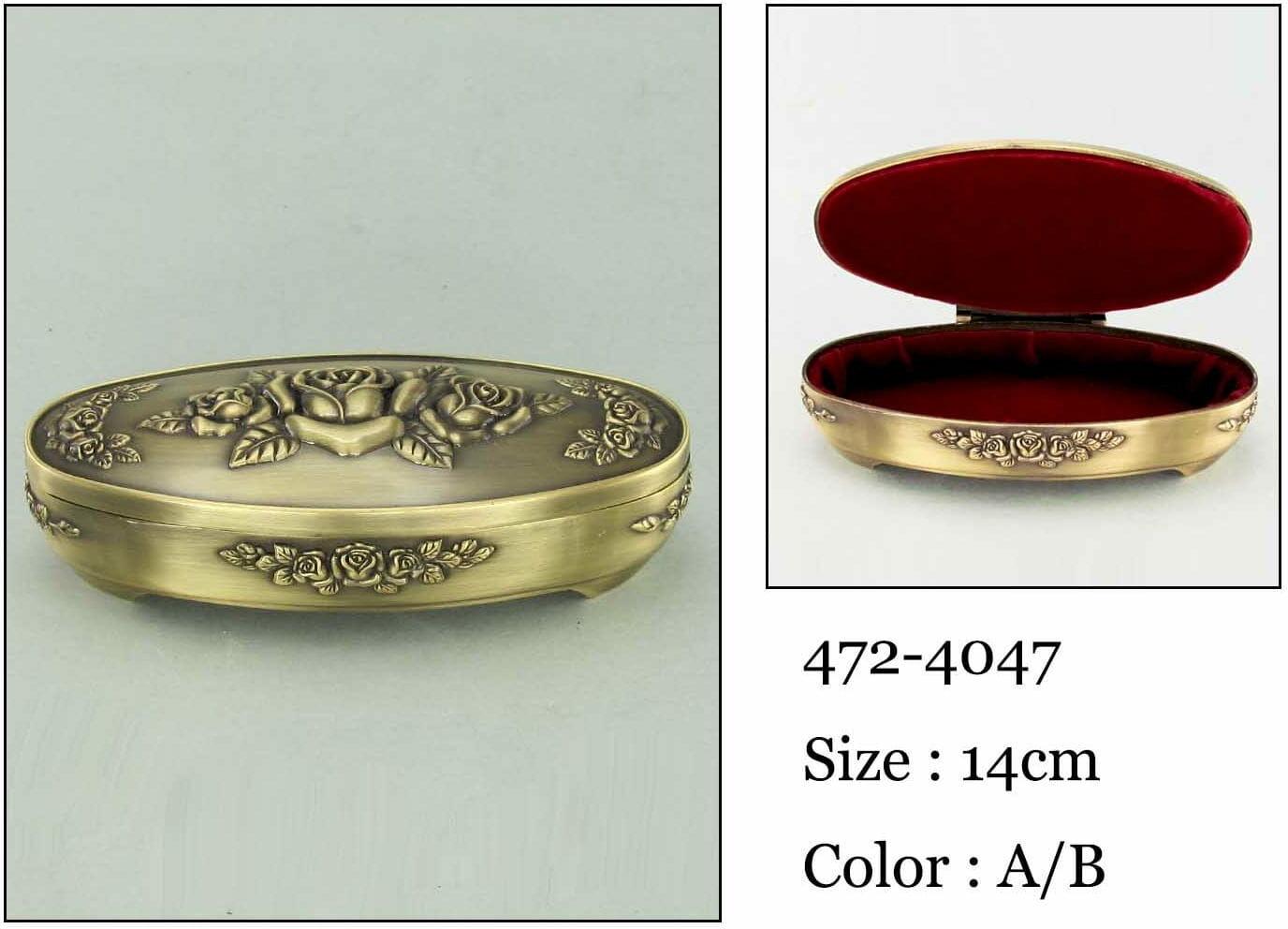 Kasetka, stare złoto, 13,5x6 cm