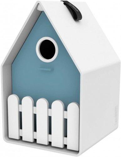 Domek budka lęgowa dla ptaków, do wykorzystania przez cały rok, w stylu wiejskim, Emsa, Niebieski