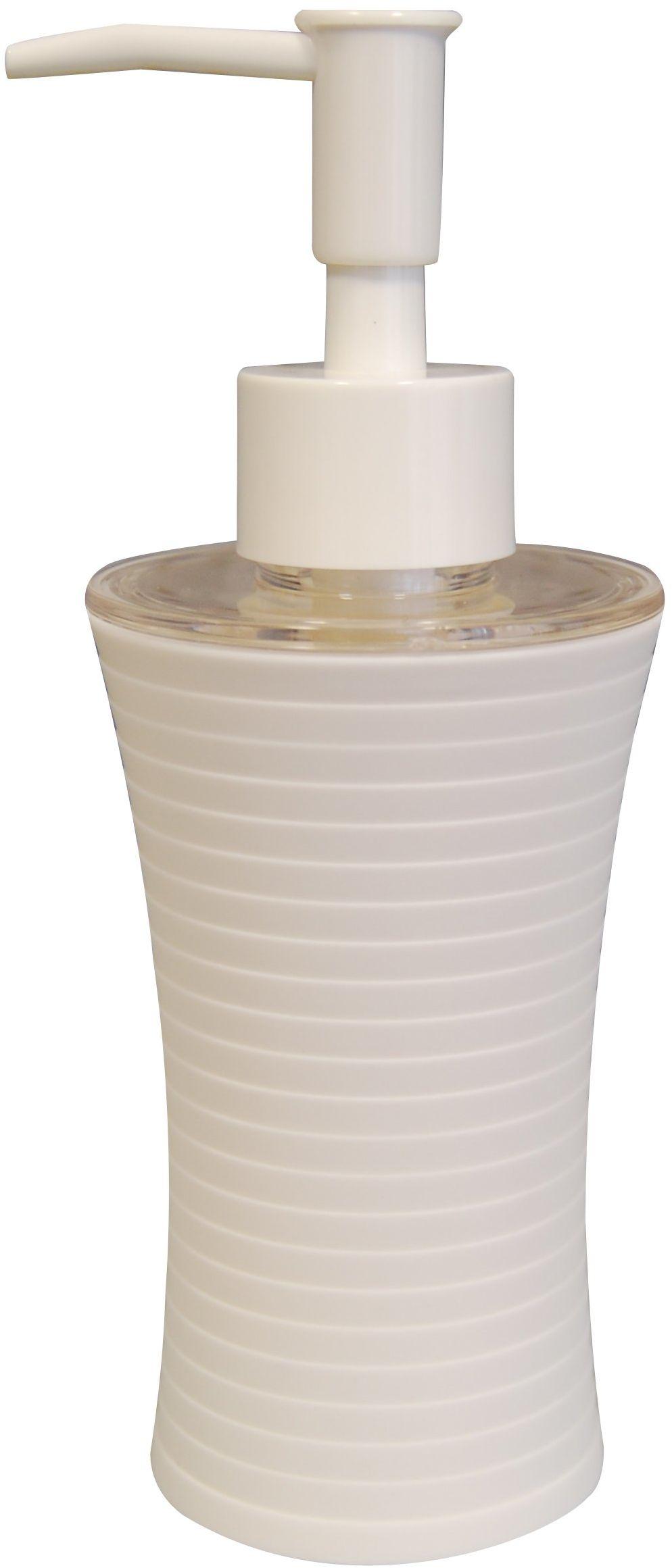 Grund TOWER dozownik mydła 7 x 7 x 18,5 cm, białe akcesoria, 100% powlekany gumą, polipropylen 7 x 7 x 18,5 cm