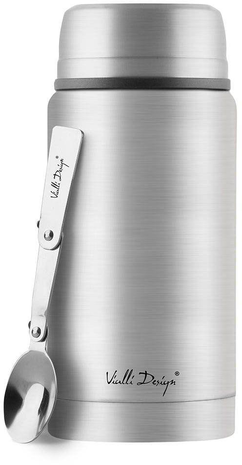 Termos obiadowy Vialli Design Fuori 750 ml - stalowy