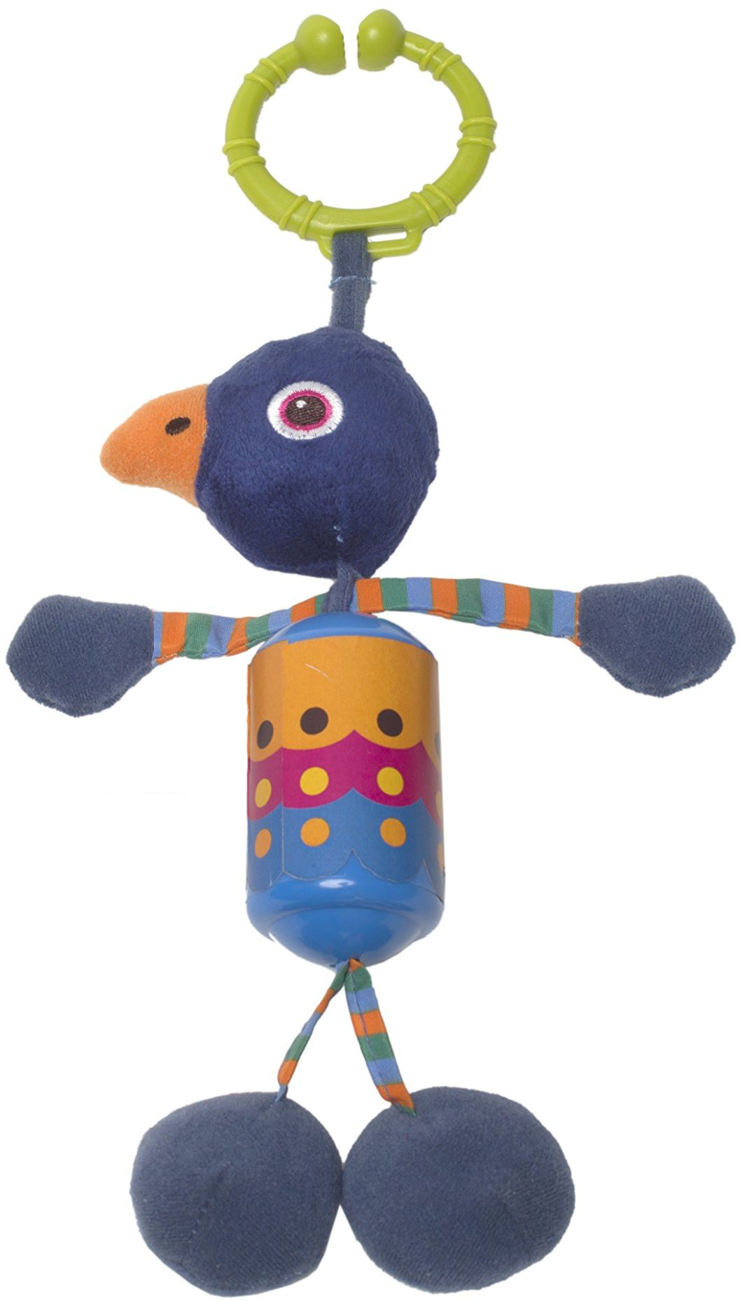OOPS 18002.14 miękka kolekcja łatwa grzechotka paw zabawka, wielokolorowa