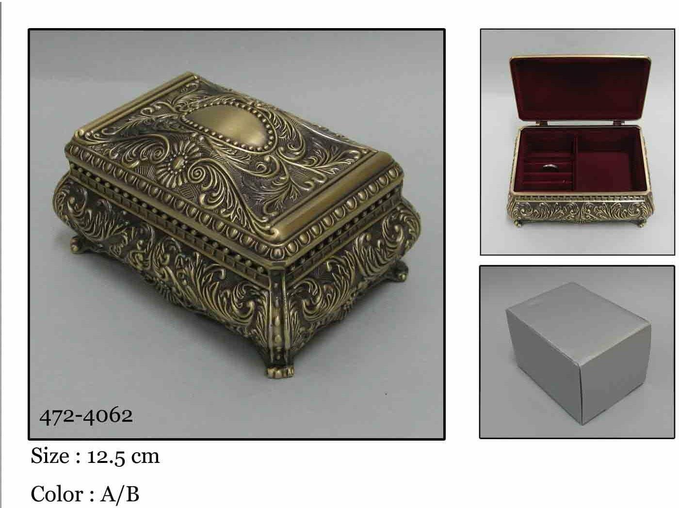 Kasetka, stare złoto, 11,5x7,5 cm