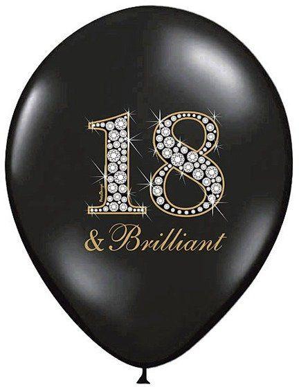 Balony 18 Brilliant na osiemnaste urodziny 6 sztuk SB14P-136-010-6