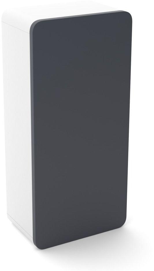 Szafka łazienkowa LOFT 35 grafit mat/biały mat