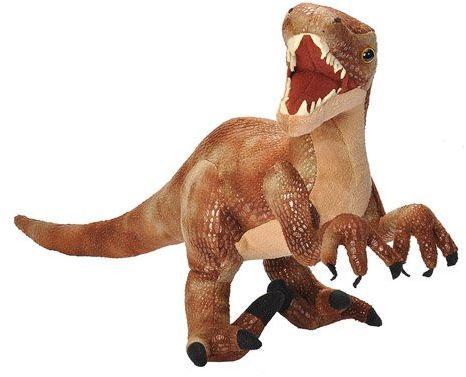 Wild Republic 17953 Velociraptor, wypchane zwierzę z dinozaurami, pluszowa zabawka, prezenty dla dzieci, dinozauria 43 cm