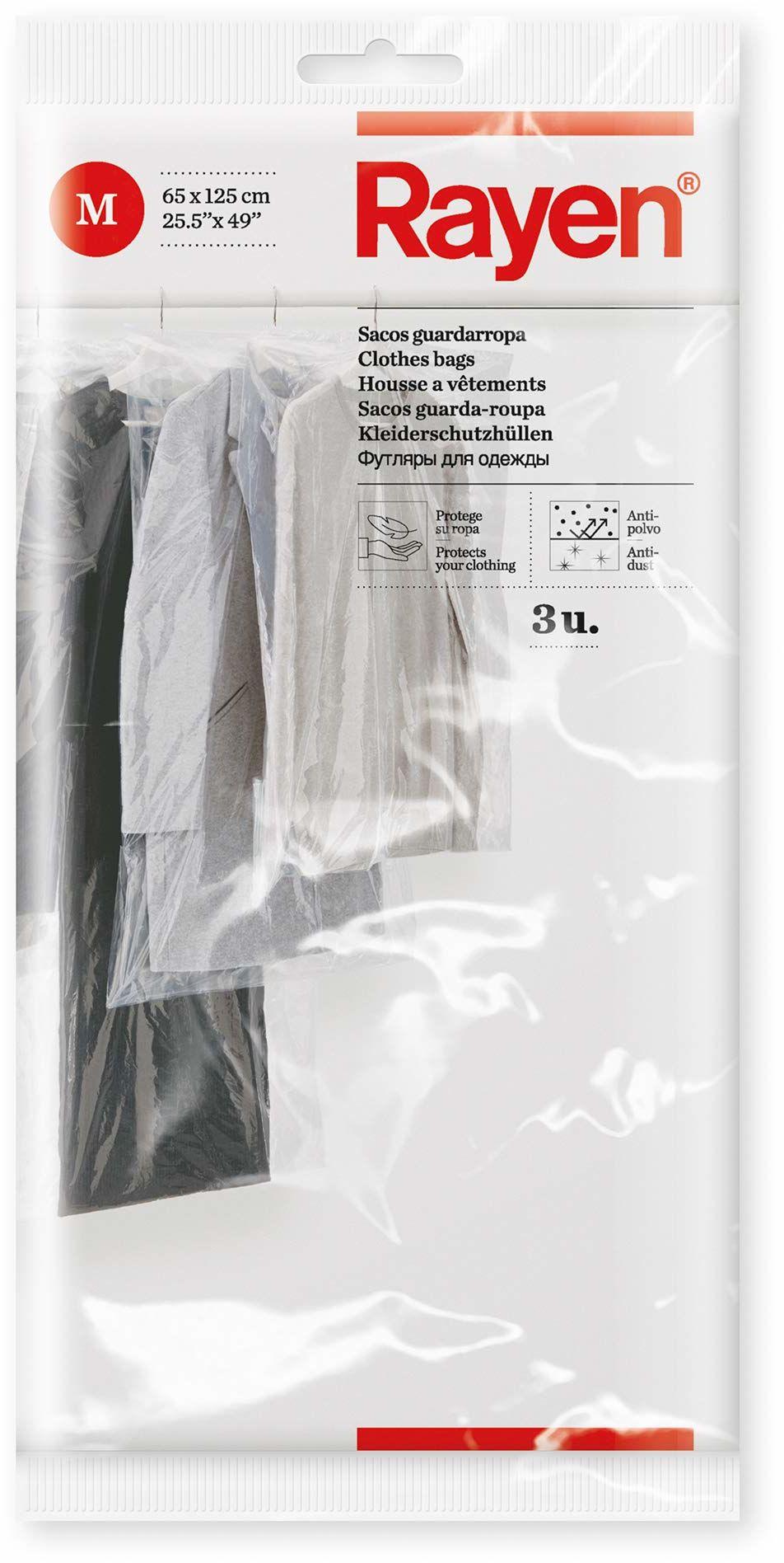 Rayen 6046 pokrowiec na ubrania, 3 sztuki, 65 x 125 cm