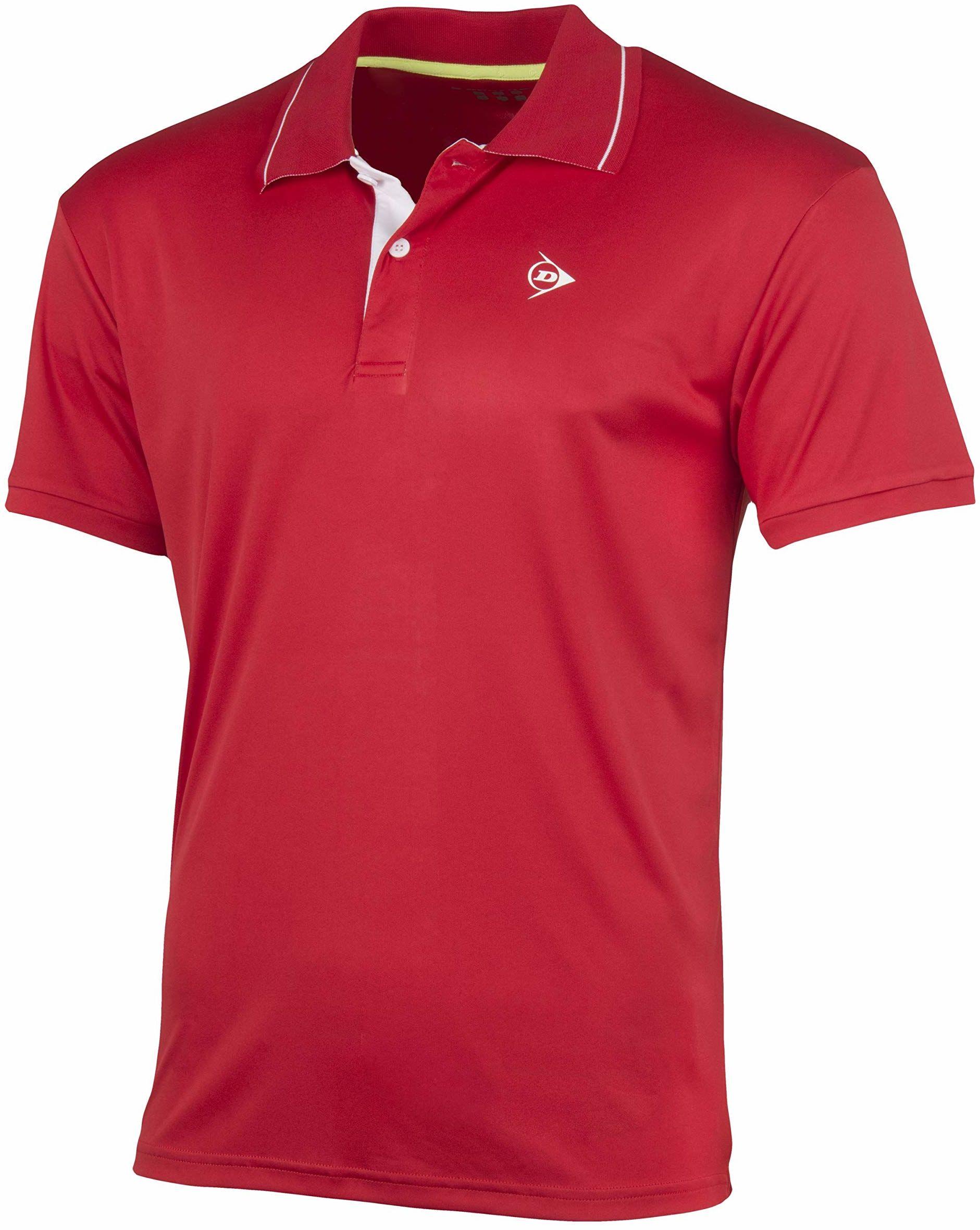 Dunlop Club Line Men Polo męska koszulka polo czerwony czerwony L