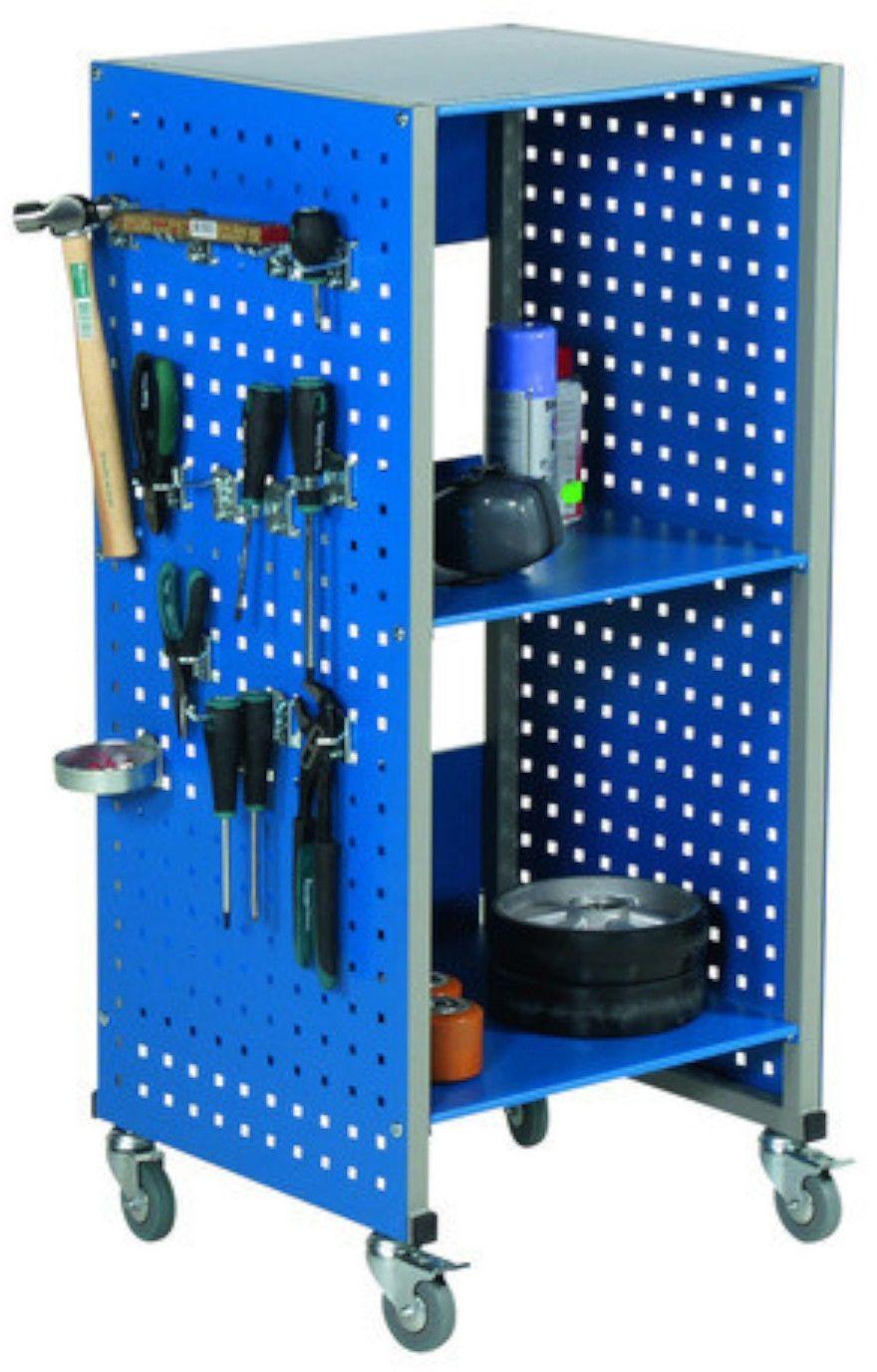 Mobilna szafka magazynowa z półkami na narzędzia