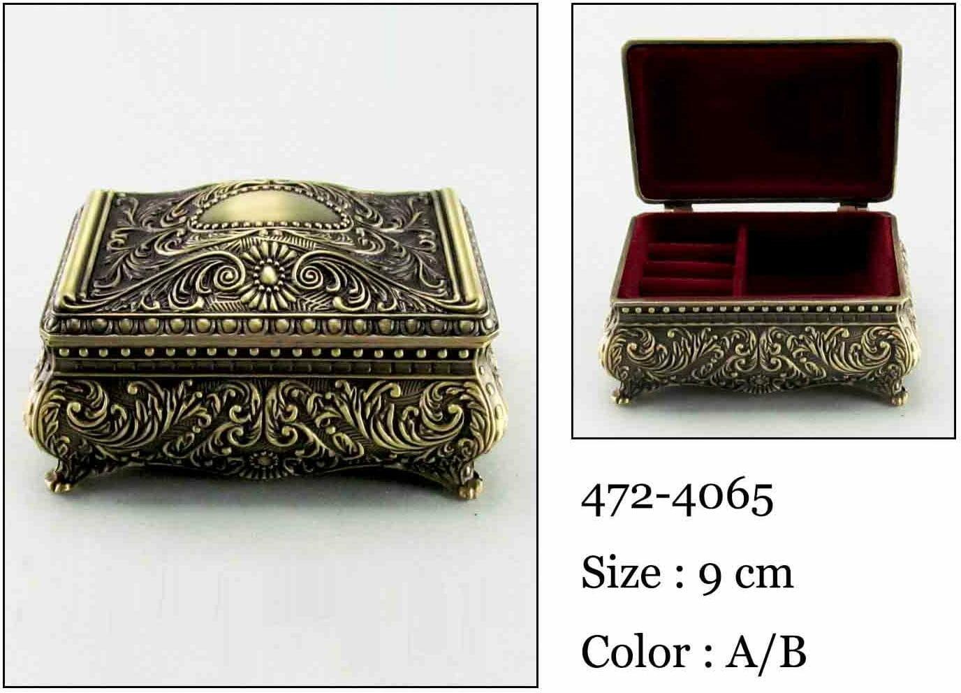 Kasetka, stare złoto, 8,5x5,5 cm